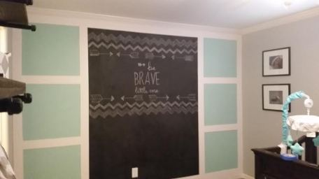 Aloe painted wainscotting chalkboard be brave little one
