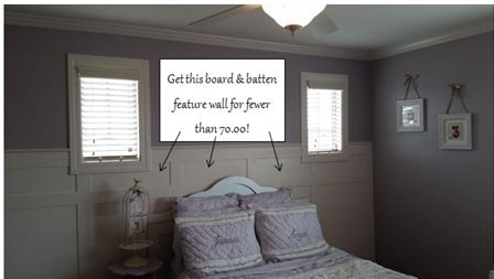 Kid spaces. Girl's room ideas. Wainscoting tutorial. Board and batten. Purple bedroom. Vinyl lettering. Pottery barn bedding. Trim windows.
